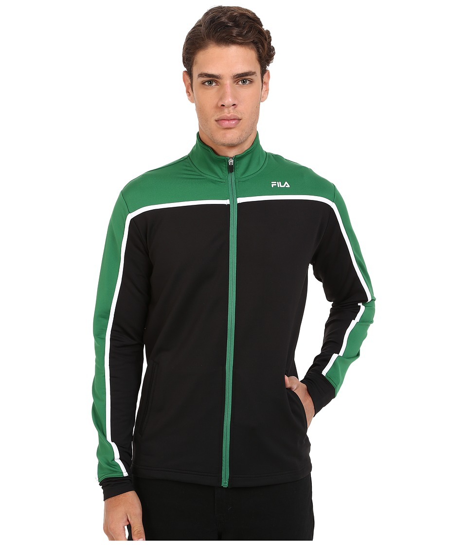 Fila - Front Row Jacket (Black/Verdant Green/White) Men's Coat
