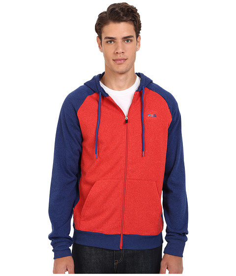Fila - Onwards Upwords Full Zip Jacket (Blue Depths Heather/Formula One) Men