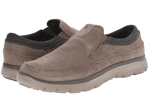 SKECHERS - Hinton (Taupe) Men's Slip on Shoes