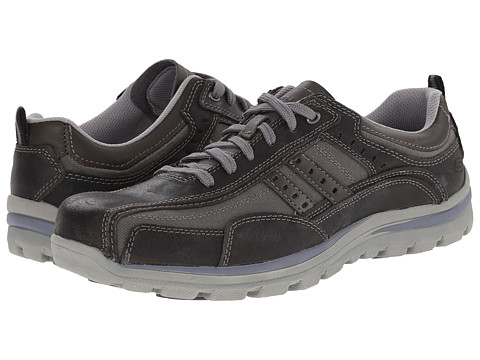 SKECHERS - Superior Bonical (Charcoal) Men's Shoes