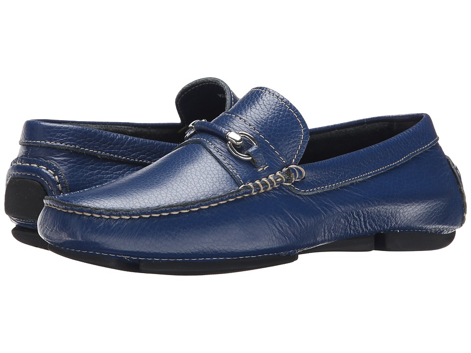 Bruno Magli - Pogia (Blue) Men's Slip-on Dress Shoes