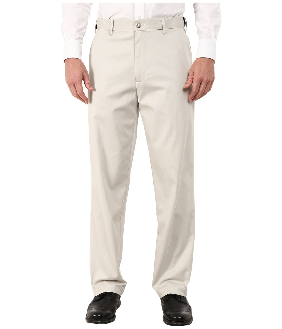Dockers Men's - Comfort Khaki Stretch Relaxed Fit Flat Front (Porcelain Khaki) Men's Casual Pants
