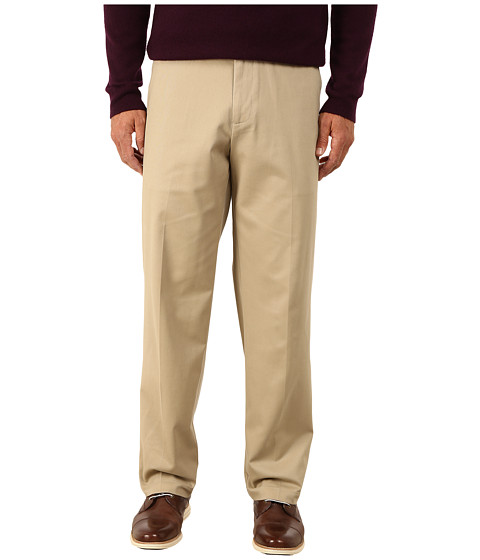 Dockers Men's - Comfort Khaki Stretch Relaxed Fit Flat Front (British Khaki) Men's Casual Pants