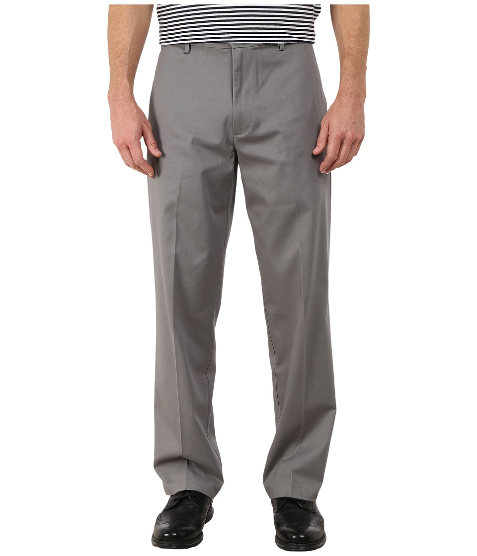 Dockers Men's - Comfort Khaki Stretch Relaxed Fit Flat Front (Gravel) Men's Casual Pants
