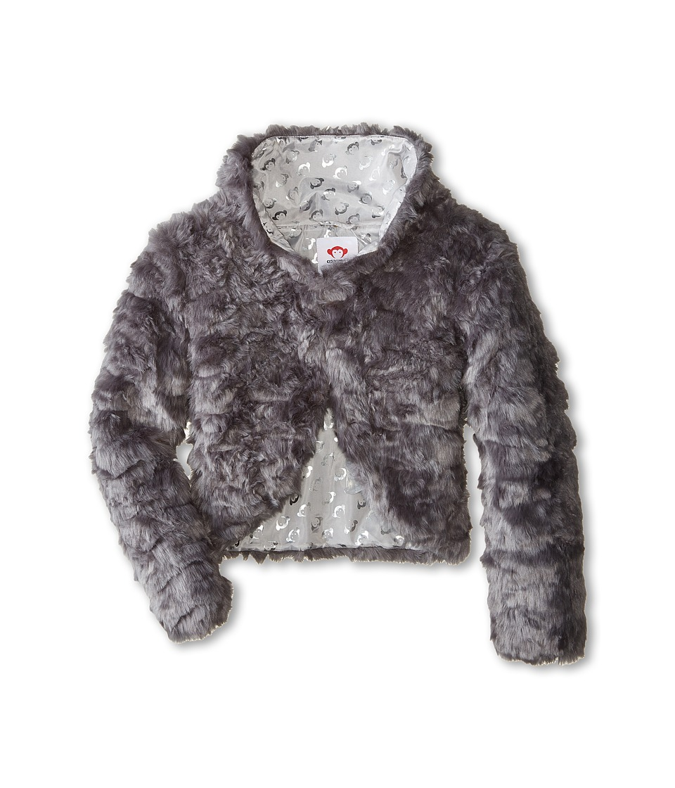 Appaman Kids - Faux Fur Shrug Jacket (Toddler/Little Kids/Big Kids) (Steeple Grey) Girl's Coat