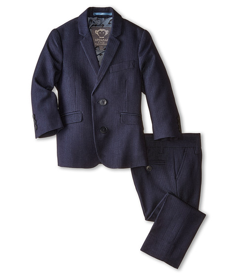 Appaman Kids - Two-Piece Mod Suit (Toddler/Little Kids/Big Kids) (Navy Herringbone) Boy