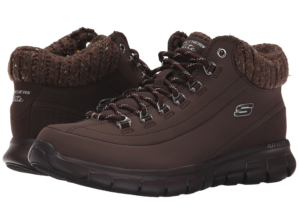 SKECHERS - Synergy - Winter Nights (Chocolate) Women's Lace up casual Shoes