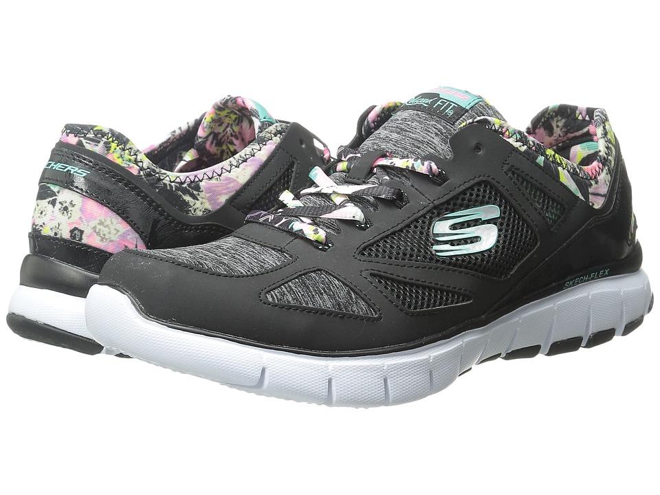 SKECHERS - Skech - Flex - Sunset Dreams (Black Multi) Women's Lace up casual Shoes
