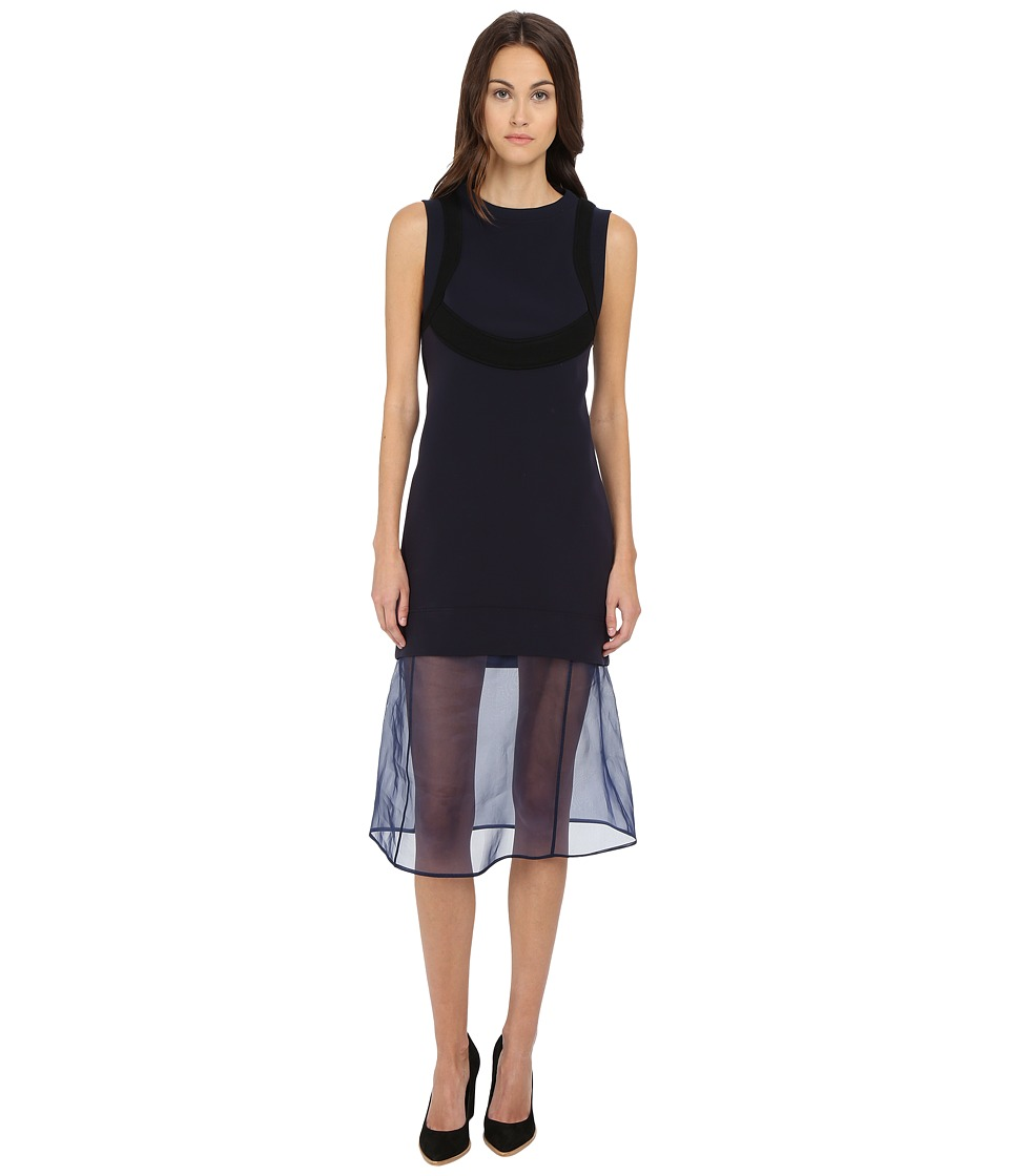 Neil Barrett - Organza Dress (Navy) Women's Dress