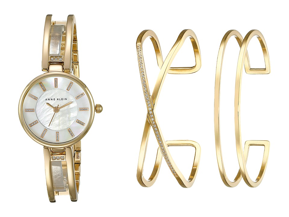 Anne Klein - AK-2236GBST Set (Gold Tone) Watches
