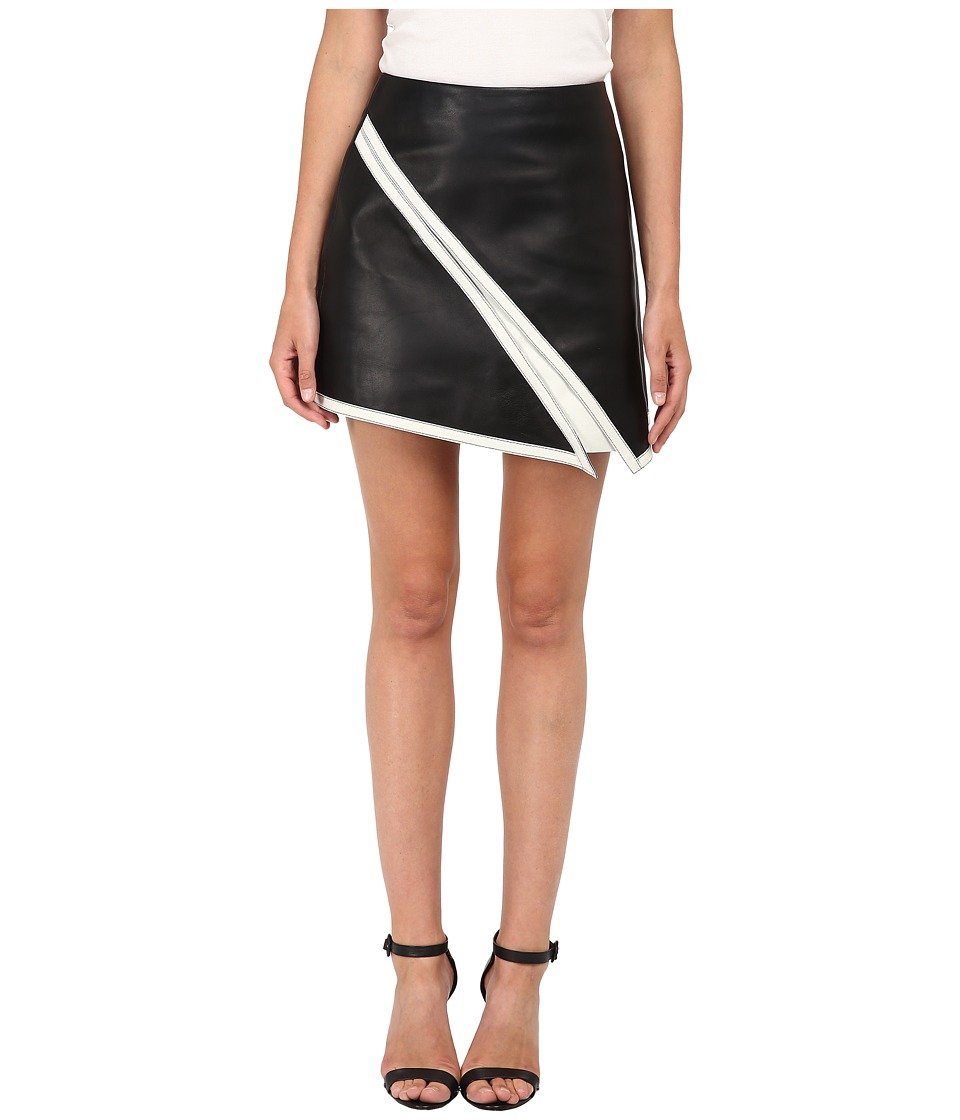 Neil Barrett - Suede Skirt (Black/White) Women's Skirt