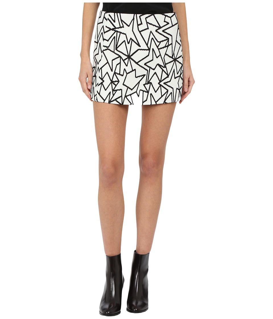 Neil Barrett - Pop Art Jacquard Skirt (White/Black) Women's Skirt