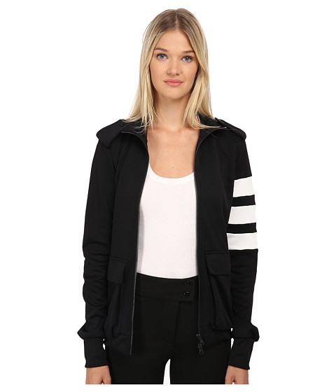 adidas Y-3 by Yohji Yamamoto - Bold Stripe Jacket (Black/Core White) Women's Coat