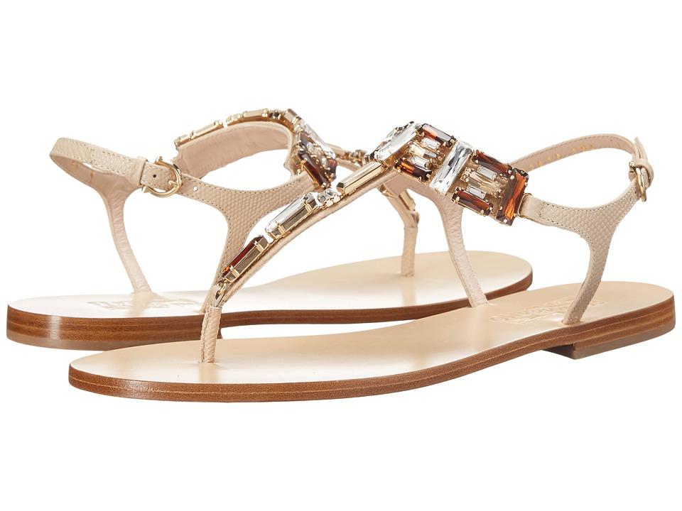 Salvatore Ferragamo - Gelsino (Macadamia Karung Calf) Women's Sandals