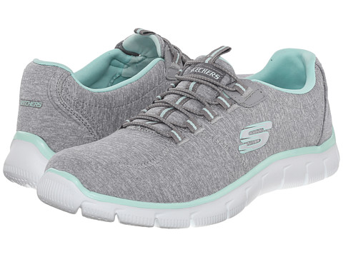 SKECHERS - Empire - Heart To Heart (Gray Mint) Women's Lace up casual Shoes
