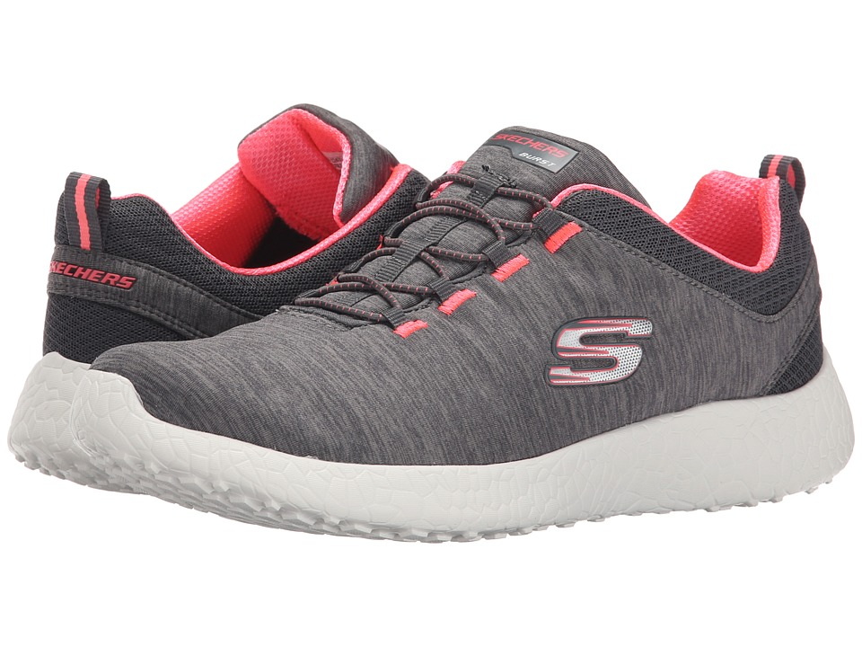 SKECHERS - Energy Burst (Gray) Women's Lace up casual Shoes