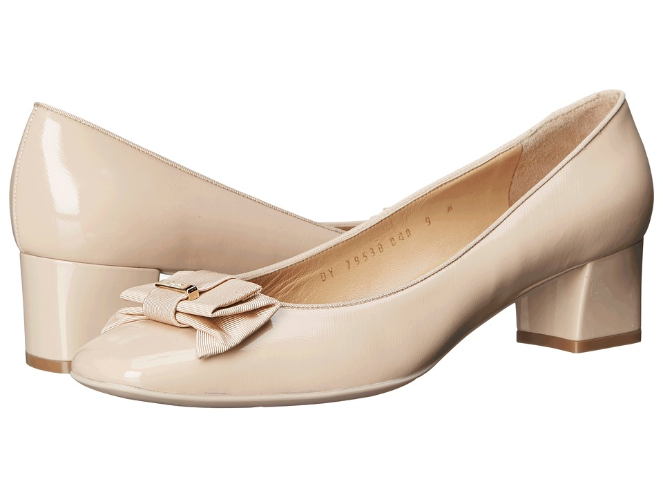 Salvatore Ferragamo - My Muse (New Bisque Focus Patent) High Heels