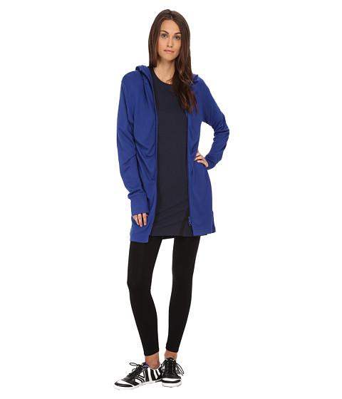 adidas Y-3 by Yohji Yamamoto - Elegant Fleece Hoodie (Roundel Blue) Women