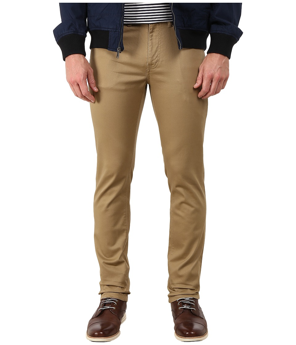 Dockers Men's - 5-Pocket On The Go (Stretch Twill - Carmel Khaki) Men's Casual Pants