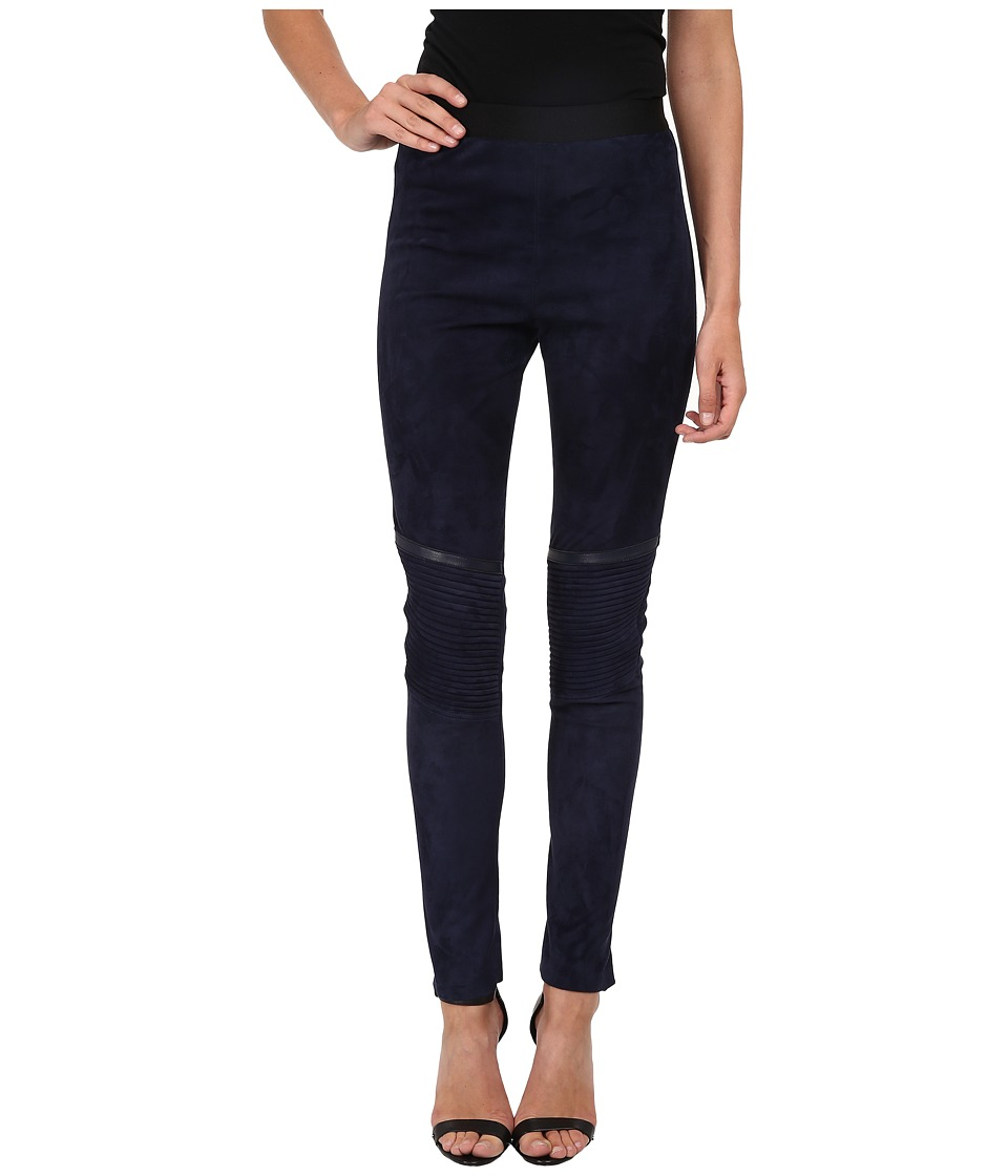 Neil Barrett - Suede Leggings (Indigo) Women's Casual Pants