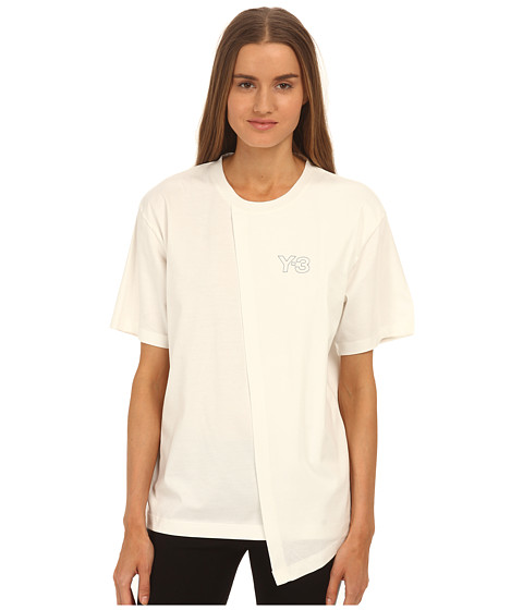 adidas Y-3 by Yohji Yamamoto - Double Layer T-Shirt (Core White/Black) Women's T Shirt