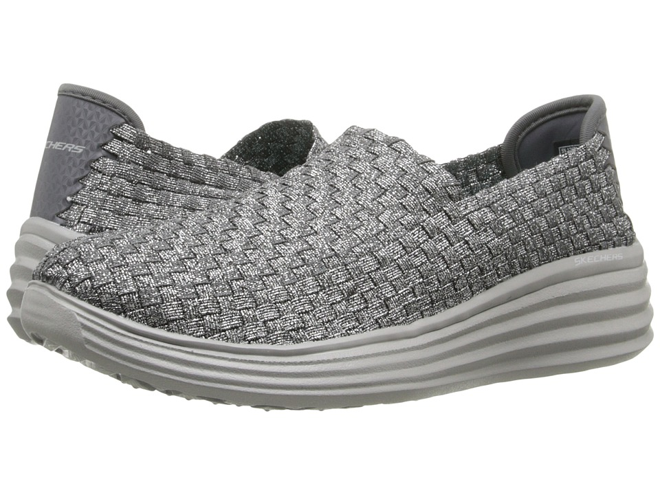 SKECHERS - Halo - Motion Picture (Gunmetal) Women's Slip on Shoes
