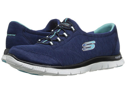 SKECHERS - Flex Appeal (Navy Blue) Women's Lace up casual Shoes