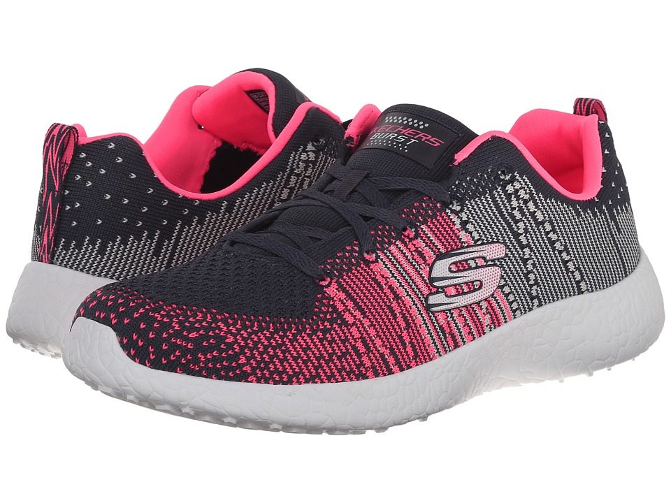 SKECHERS - Energy Burst (Gray Pink) Women's Lace up casual Shoes