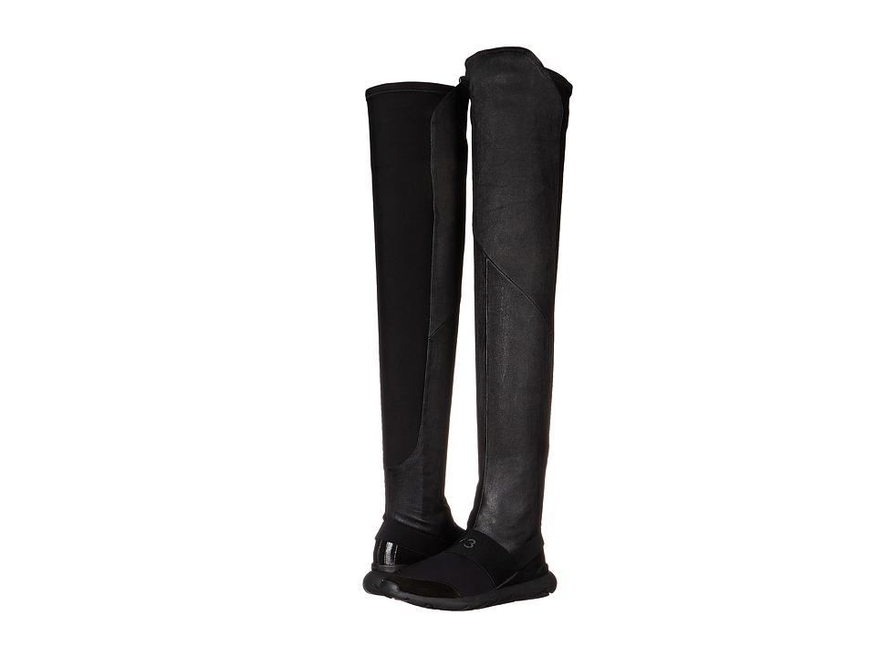 adidas Y-3 by Yohji Yamamoto - Qasa Elle Sock High (Black/Black) Women's Boots