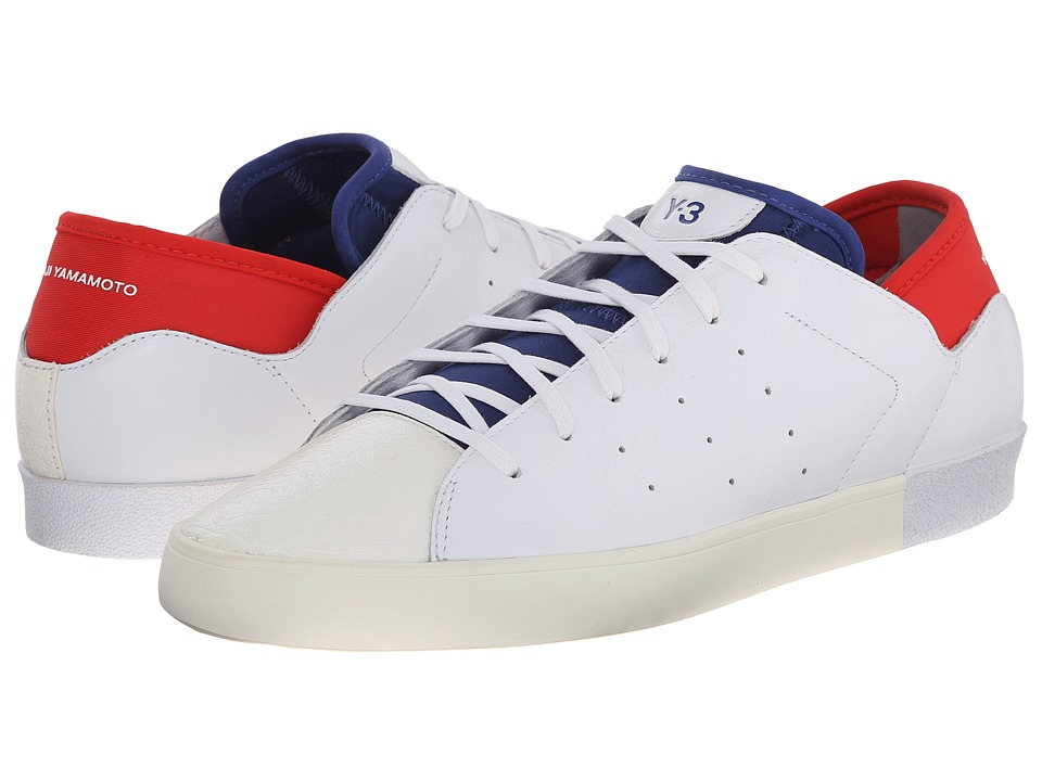 adidas Y-3 by Yohji Yamamoto - Smooth Court (White/Roundel Blue/Roundel Red) Women's Lace up casual Shoes