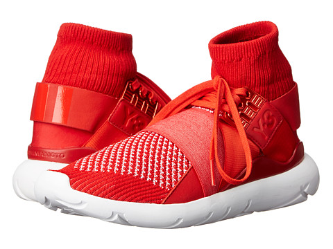 adidas Y-3 by Yohji Yamamoto - Qasa Elle Lace Knit (Roundel Red/White) Women's Lace up casual Shoes