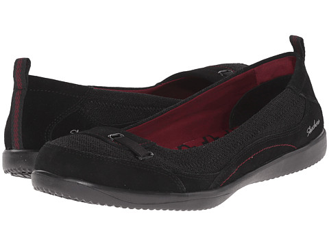 SKECHERS - Spectrum (Black) Women's Slip on Shoes