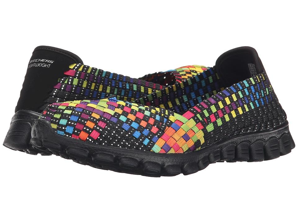 SKECHERS - EZ Flex 2 - Delphi (Black/Multi) Women's Slip on Shoes