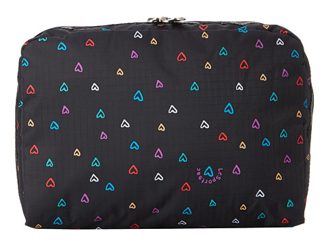 LeSportsac Luggage - XL Rectangular and Square Cosmetic Combo (Love Drops) Travel Pouch