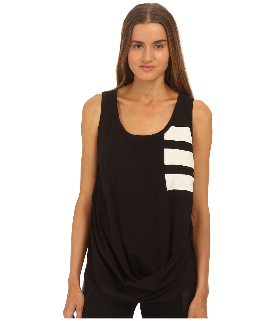 adidas Y-3 by Yohji Yamamoto - Bold Stripe Tank Top (Black/Core White) Women's Sleeveless