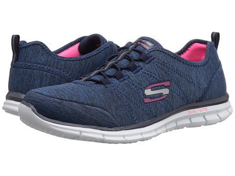 SKECHERS - Glider - Electricity (Navy) Women's Lace up casual Shoes