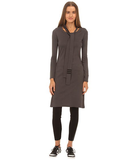 adidas Y-3 by Yohji Yamamoto - Necktie Tunic (Charcoal Melange/Black) Women's Dress
