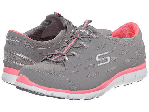 SKECHERS - Gratis - Full-Circle (Gray Pink) Women's Lace up casual Shoes