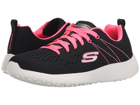 SKECHERS - Energy Burst (Black/Hot Pink) Women's Lace up casual Shoes