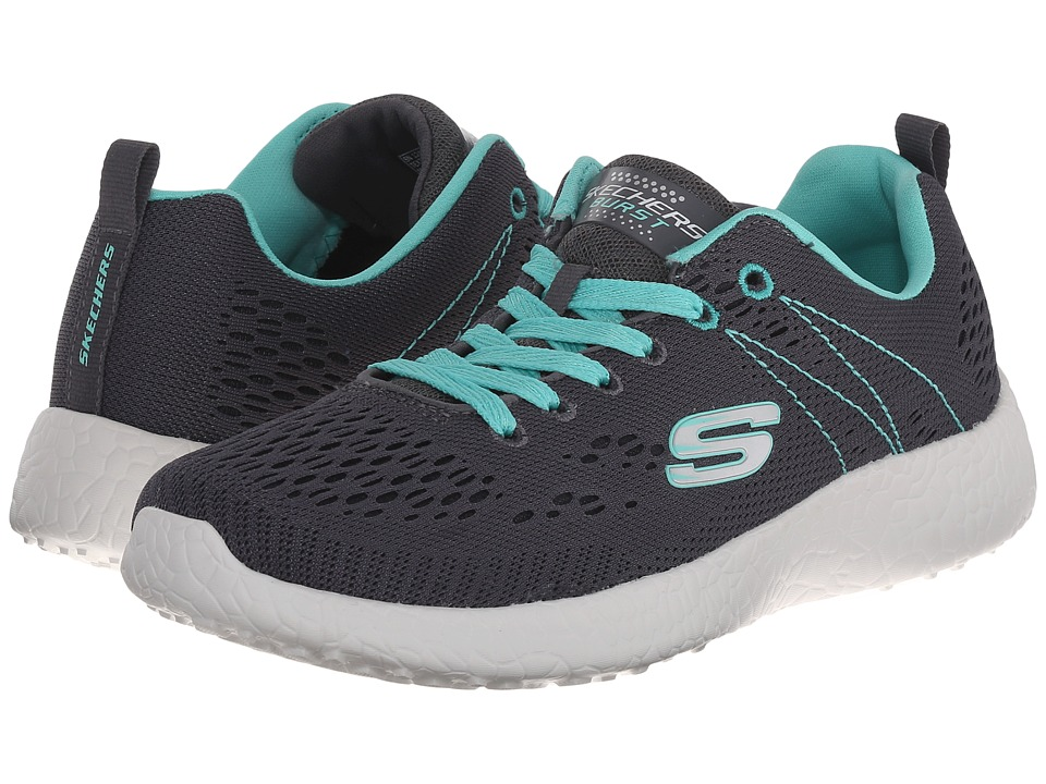 SKECHERS - Energy Burst (Charcoal/Aqua) Women's Lace up casual Shoes