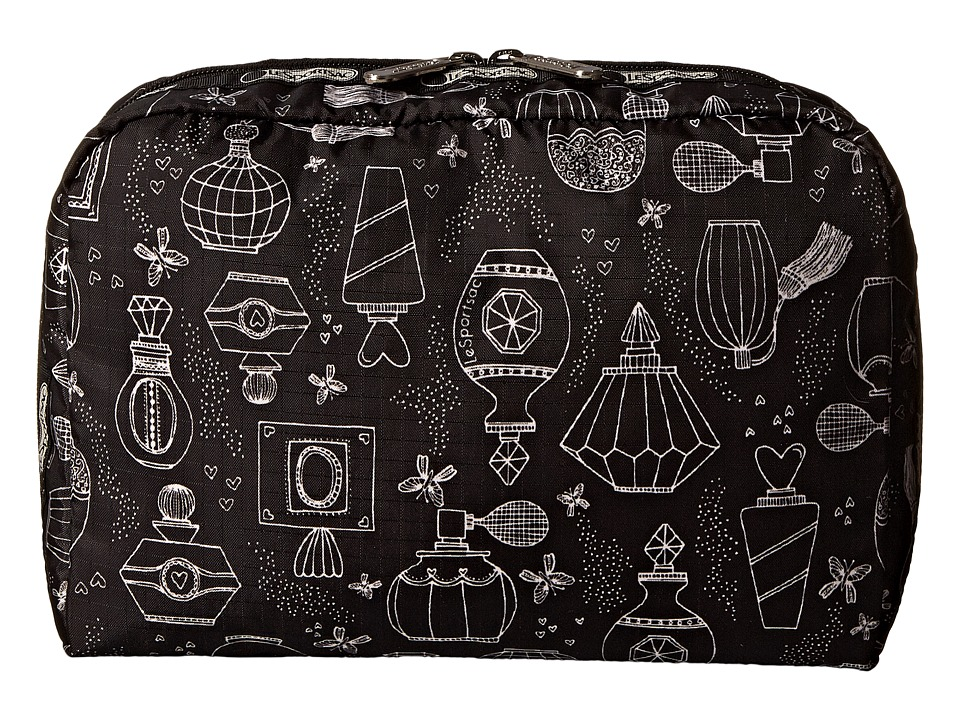 LeSportsac Luggage - Extra Large Rect And Square Cosmetic Combo (Sweet Essence Black) Cosmetic Case