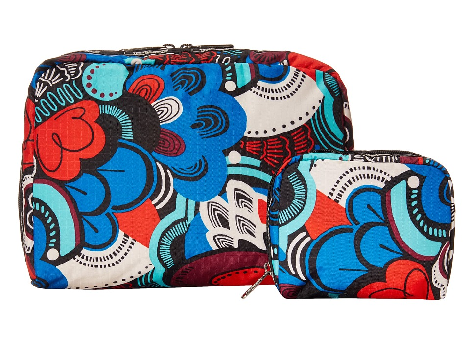 LeSportsac Luggage - Extra Large Rect And Square Cosmetic Combo (Swoop-Dee-Doo) Cosmetic Case