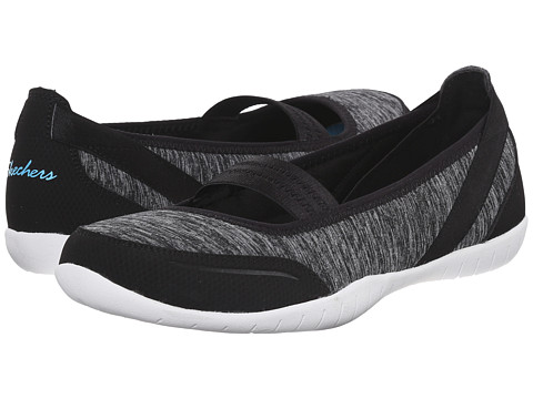 SKECHERS - Atomic - Magnetize (Black White) Women's Slip on Shoes