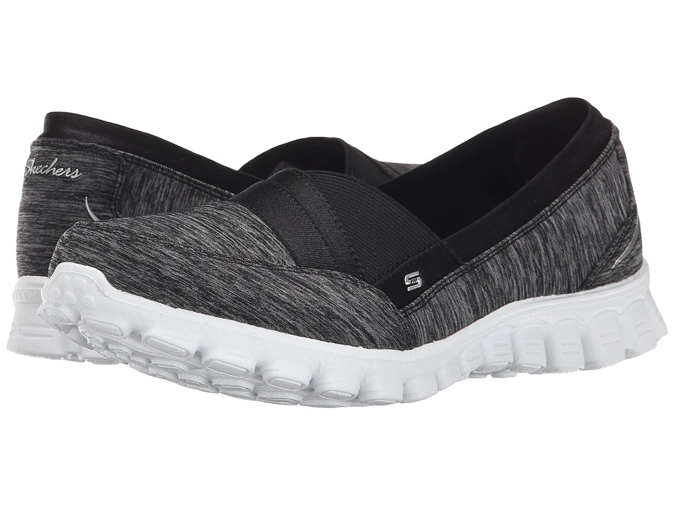 SKECHERS - EZ Flex 2 - Fascination (Black White) Women's Slip on Shoes