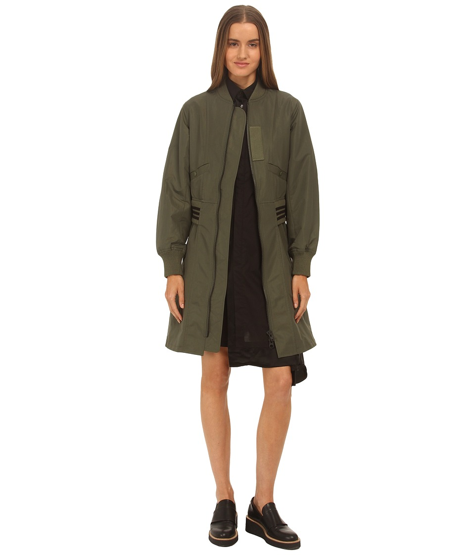 adidas Y-3 by Yohji Yamamoto - Nylon Ma-1 Parka (Base Green) Women's Coat