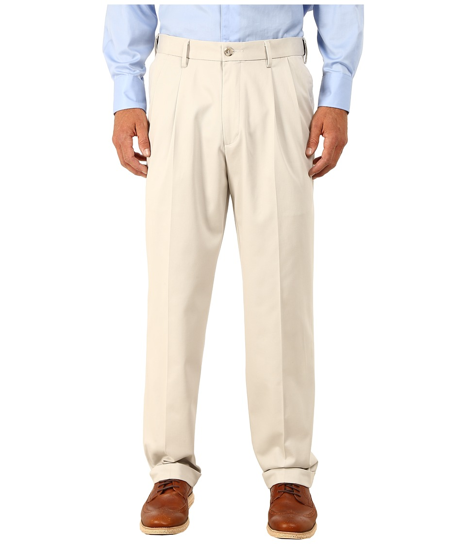 Dockers Men's - Comfort Khaki Stretch Relaxed Fit Pleated (Porcelain Khaki) Men's Casual Pants