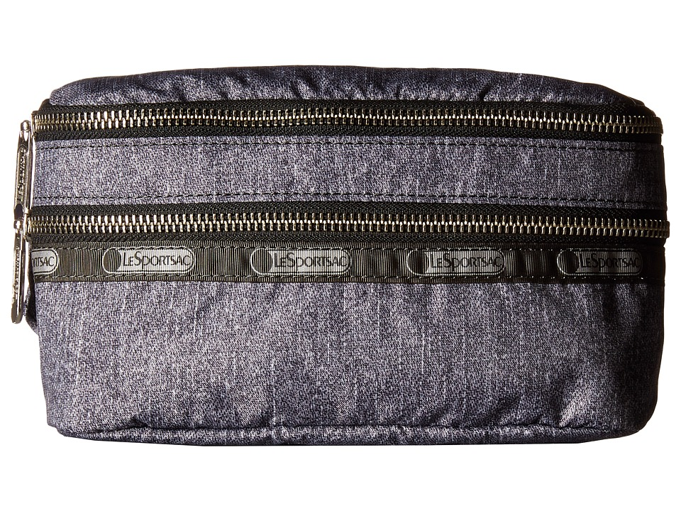 LeSportsac - Modern Double Zip Belt Bag (Gunmetal Denim) Bags