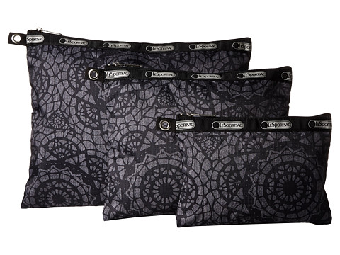 LeSportsac Luggage - 3 Piece Travel Set (Lace) Travel Pouch