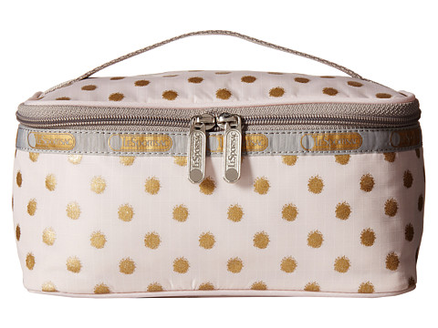 LeSportsac Luggage - Rectangular Train Case (Pink/Gold Foil) Cosmetic Case