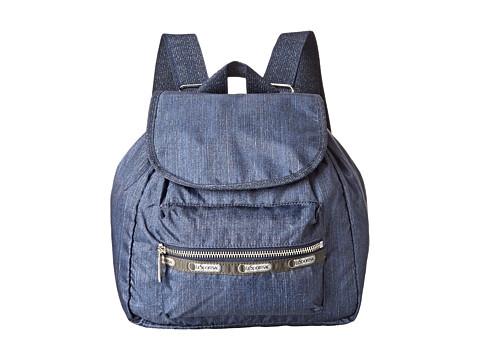 LeSportsac - Modern Small Edie Backpack (True Navy Denim) Backpack Bags